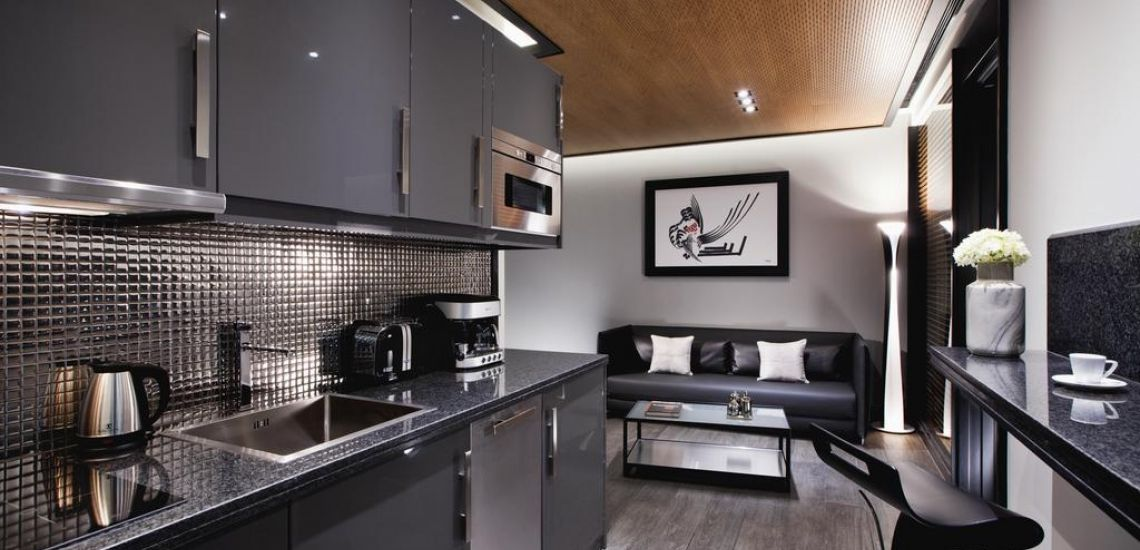 MET34 Athens kitchenette in appartement